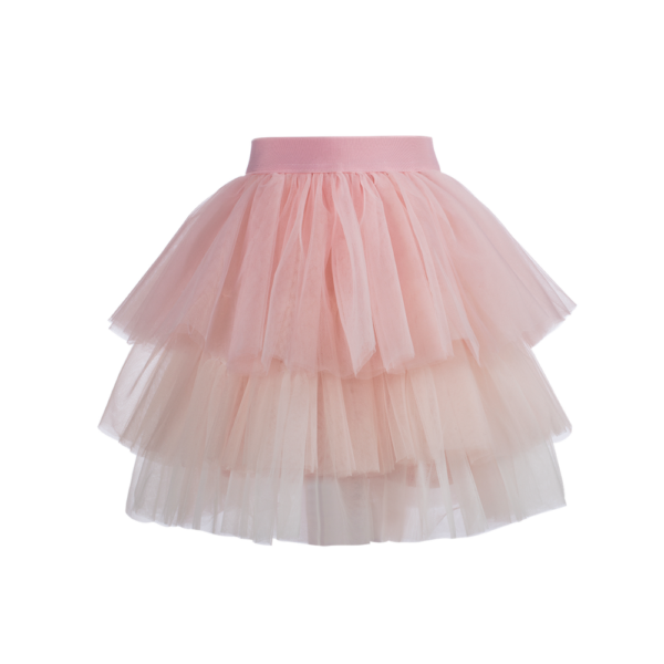 gonna Sofi da bambina in tulle rose sfumato