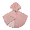 Mantella bimba in morbida pelliccia ecologica colore cipria