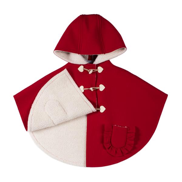 mantellina cappuccetto rosso da bambina