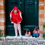 mantellina rossa per bambine fino a 5 anni di età