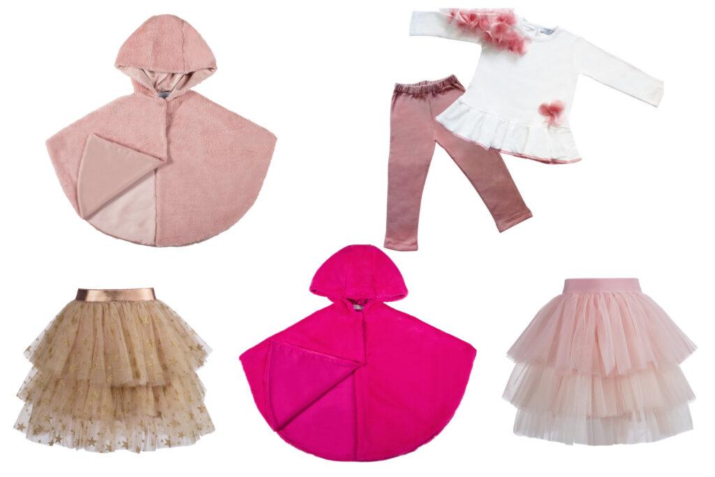 abbigliamento rosa per bambine principesse