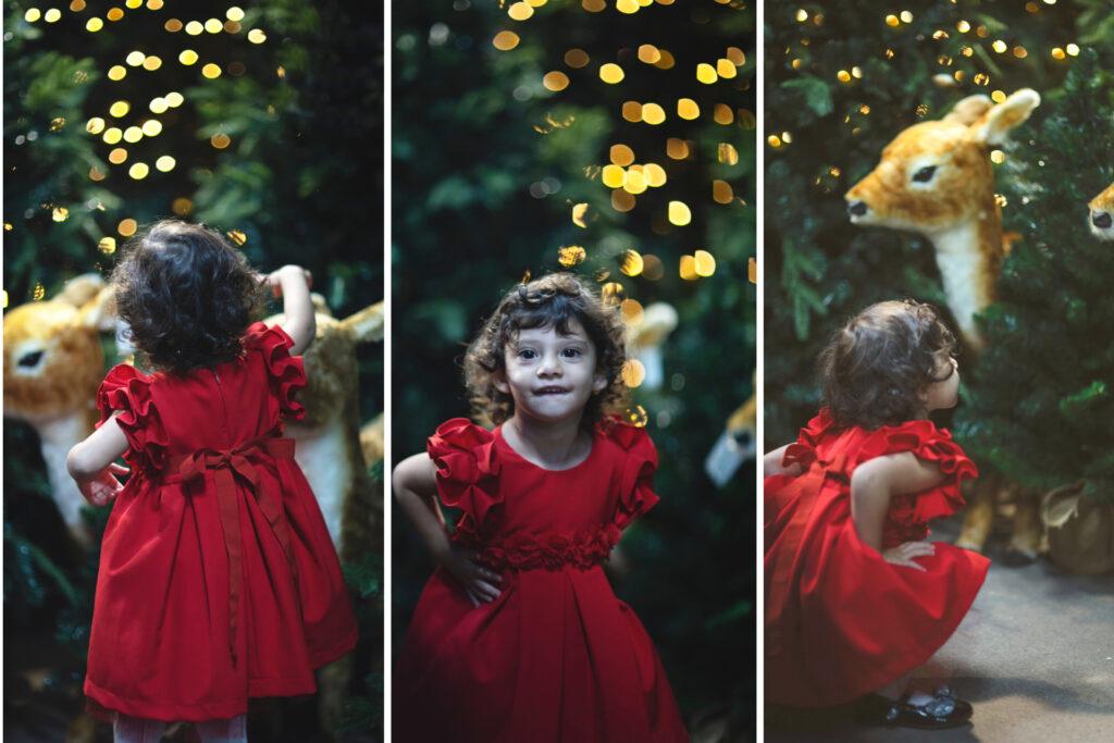 bambina aspetta il Natale
