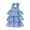 dettaglio vestito da cerimonia bambina vichy