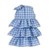 dettaglio retro abito cerimonia bambina Beatrice in tessuto vichy