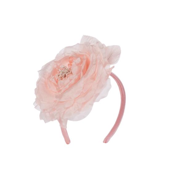 cerchietto fiore gigante rosa