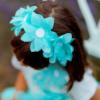 corona fiori da bambina color tiffany
