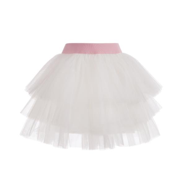 gonna in tulle da bambina bianca