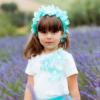 corona di fiori tiffany da bambina