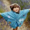 mantellina Margherita da bambina in jeans con applicazioni
