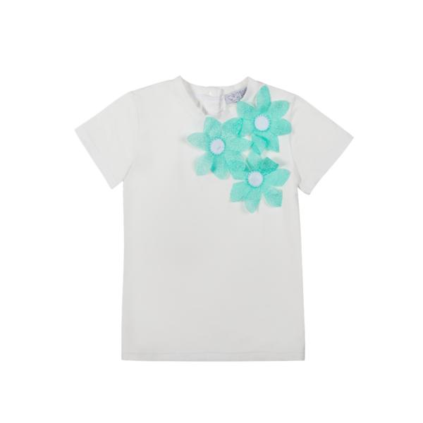 maglietta alice in cotone con fiori tiffany da bambina
