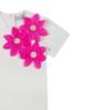 dettaglio maglietta Alice a maniche corte in cotone