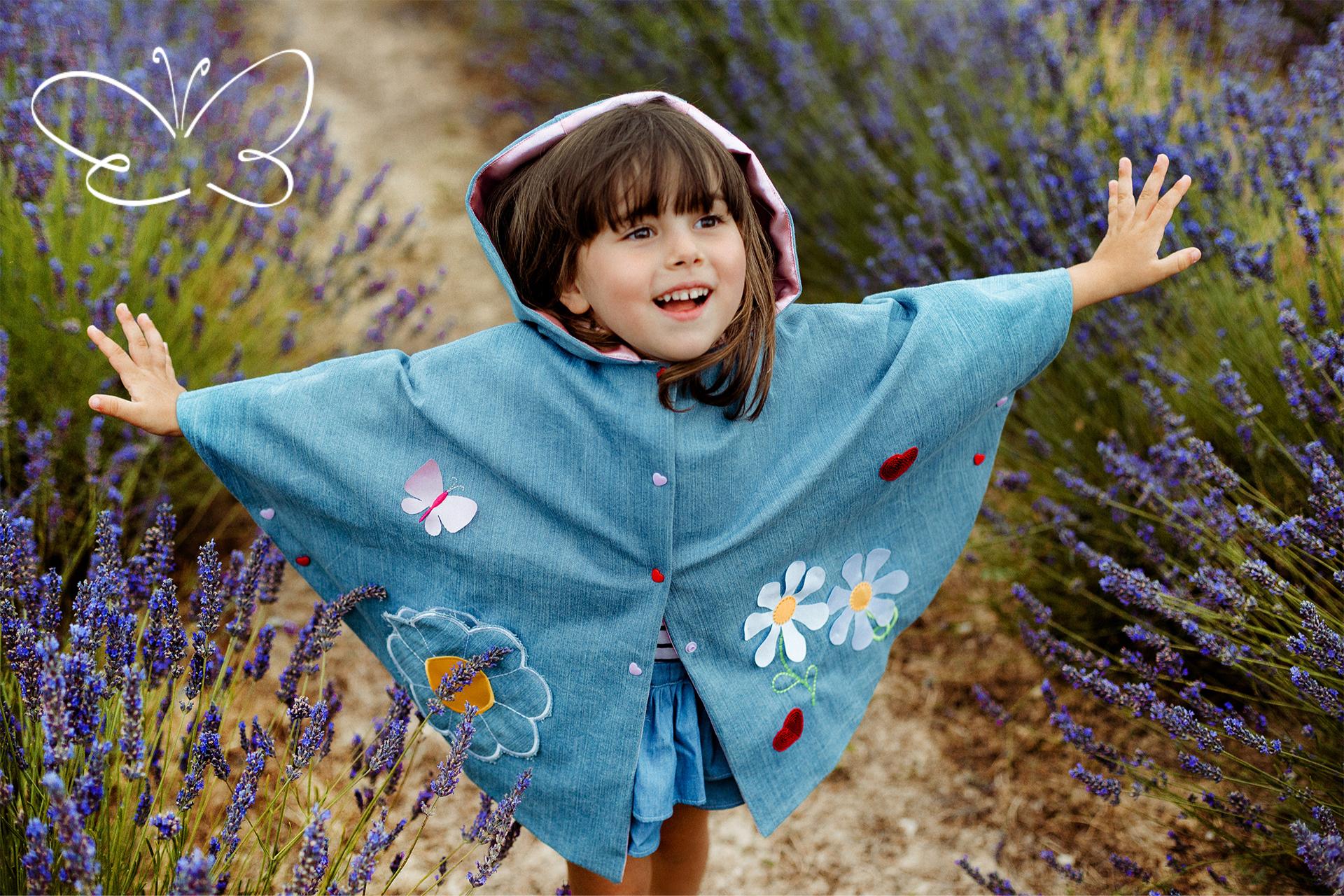 mantellina da bambina in jeans Giulia Mantelline
