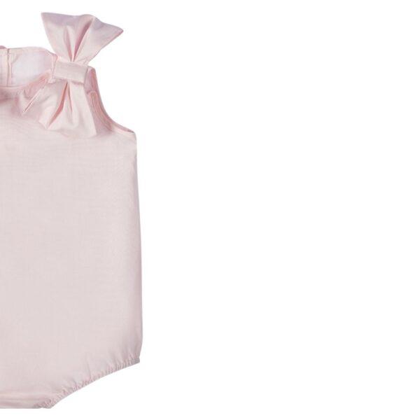 dettaglio fiocco body in cotone da bambina Giulia Mantelline