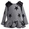 maglia in felpe a stelle da bambina fino a 5 anni Giulia Mantelline