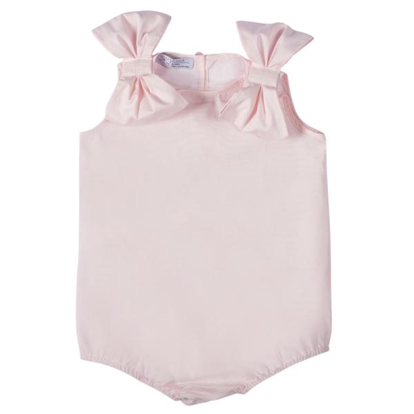 pagliaccetto Ioris rosa da bambina in cotone Giulia Mantelline