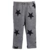 pantalone in felpa grigio con stelle nere da bambina Giulia Mantelline
