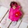mantellina pelliccia fuxia bambina