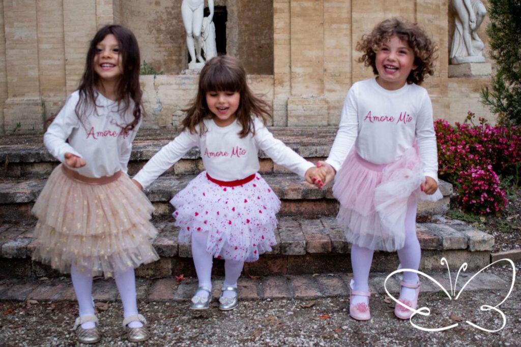 abbigliamento bambina con calze e scarpe GiuliaMantelline