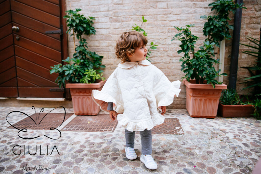 Mantellina piumino bambina Giulia Mantelline