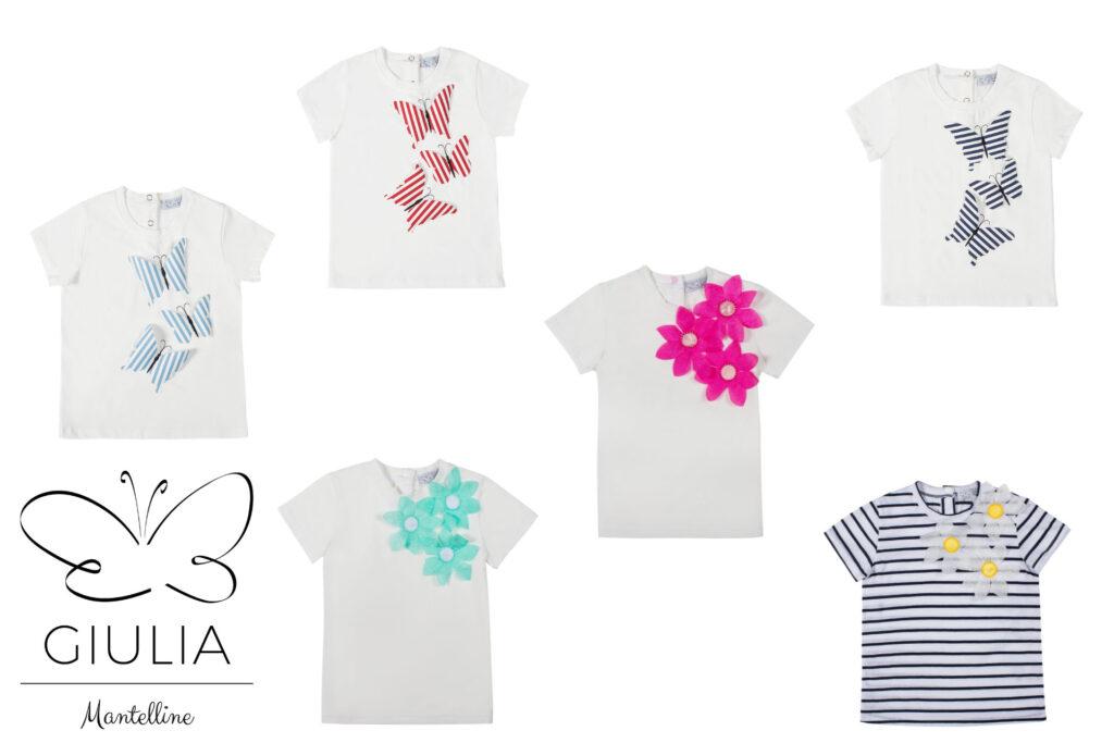 maglietta manica corta per bambine Giulia Mantelline