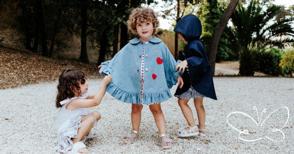 mantelline bambina firmate Giulia Mantelline