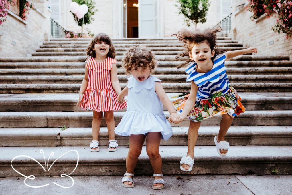 abbigliamento bambina fino a 5 anni firmato Giulia Mantelline