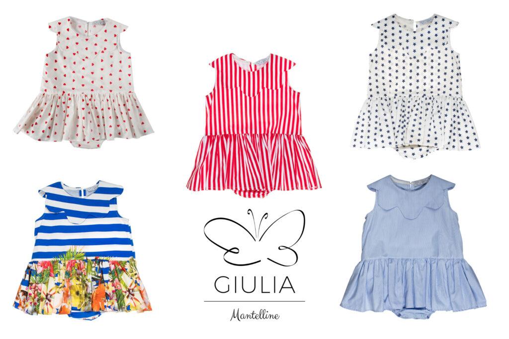 abiti bambina fino a 3 anni firmato Giulia Mantelline