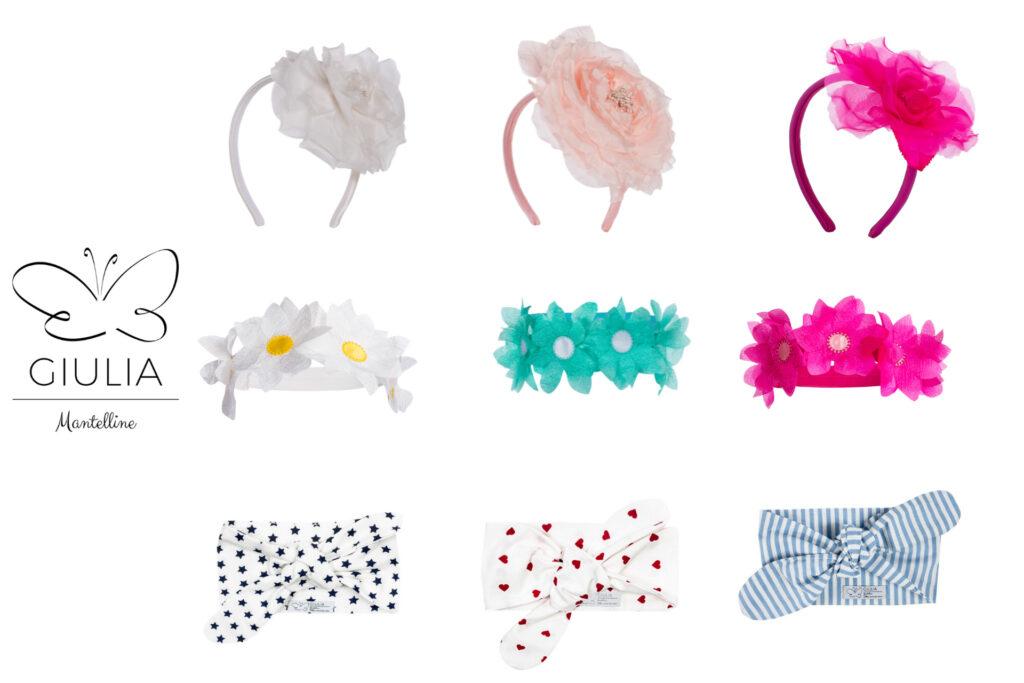 accessori per capelli fascia e cerchietto per bambine e mamme firmati Giulia Mantelline