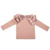 maglia in caldo cotone rosa con manica lunga da bambina
