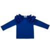 maglia da bambina in cotone con maniche voluminose