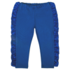 pantalone in cotone e raso bluette da bambina