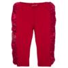 pantalone rosso in cotone da bambina fino a 5 anni