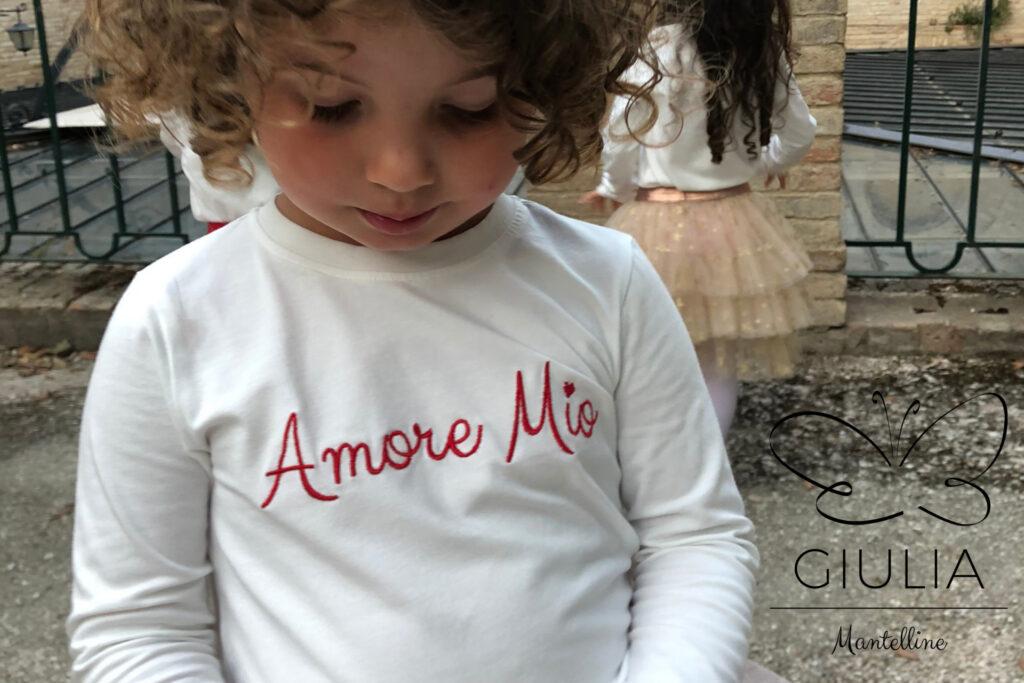 maglia ma manica lunga bambina firmata Giulia Mantelline
