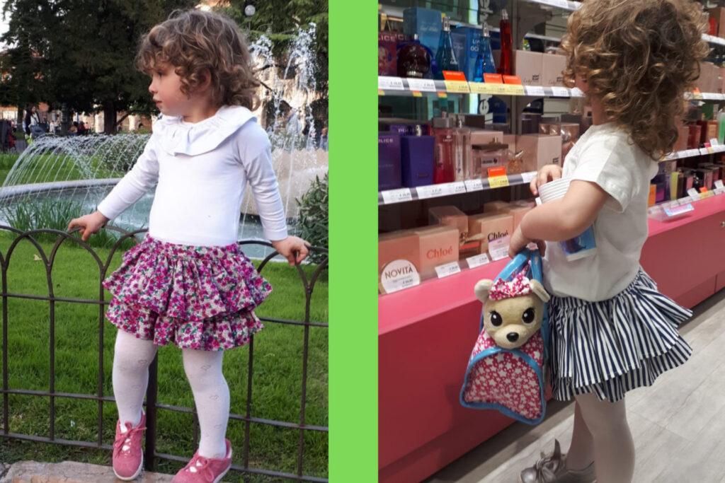 abbigliamento bambina con calze firmato Giulia Mantelline