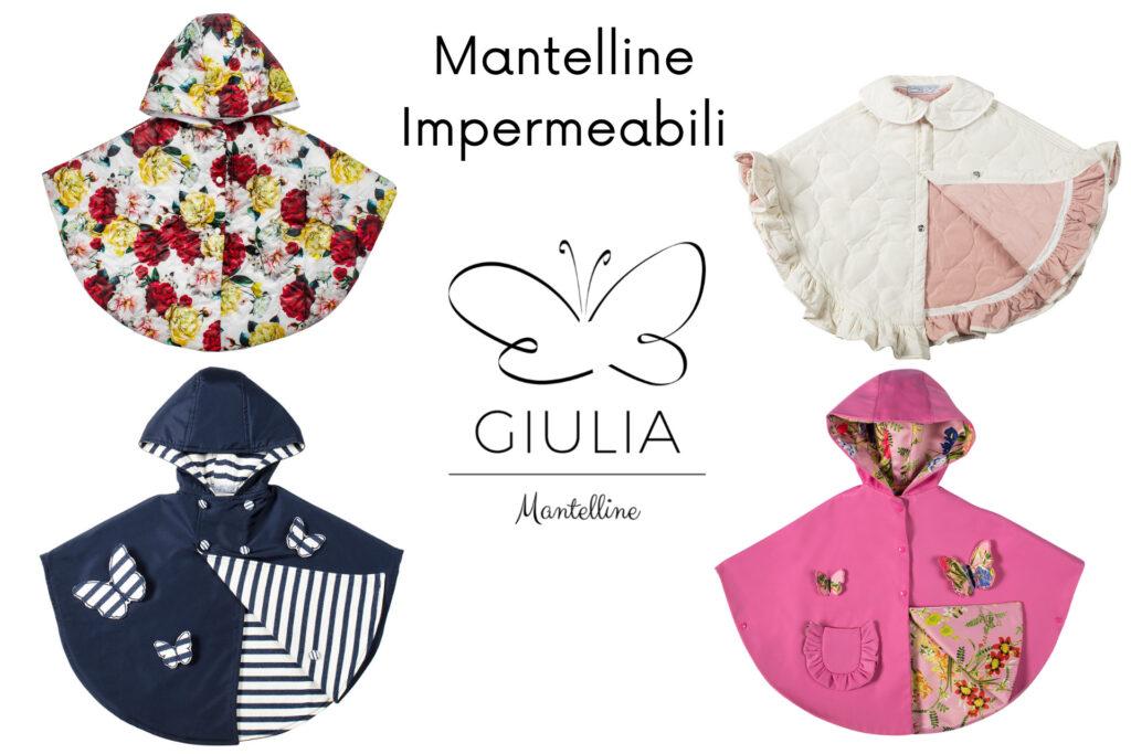 mantellina impermeabile bambina firmata Giulia Mantelline