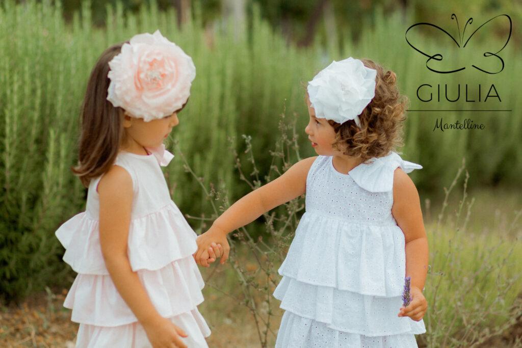 cerchietti e fasce per capelli bambina firmati Giulia Mantelline