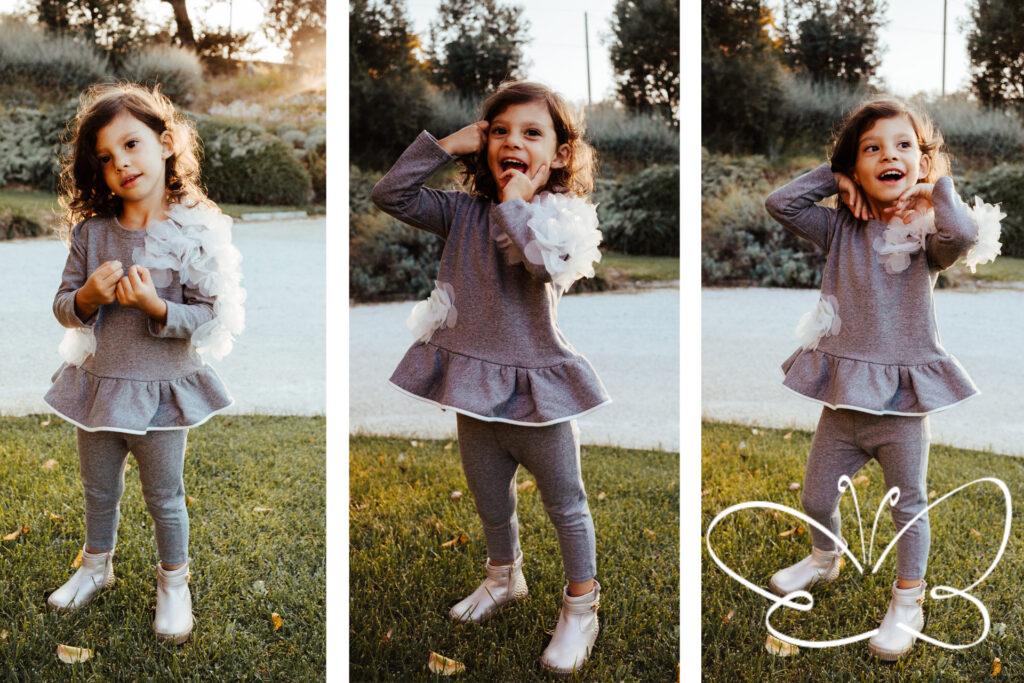 completi maglie e pantaloni bambine fino a 5 anni firmati Giulia Mantelline