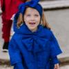 mantellina piumino fata turchina da bambina