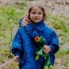 mantellina fata turchina bluette da bambina invernale