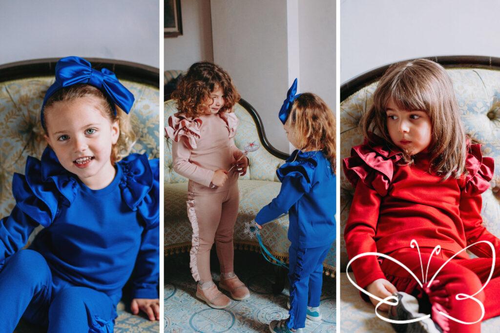 maglie e pantaloni colorati per bambine fino a 5 anni firmate Giulia Mantelline