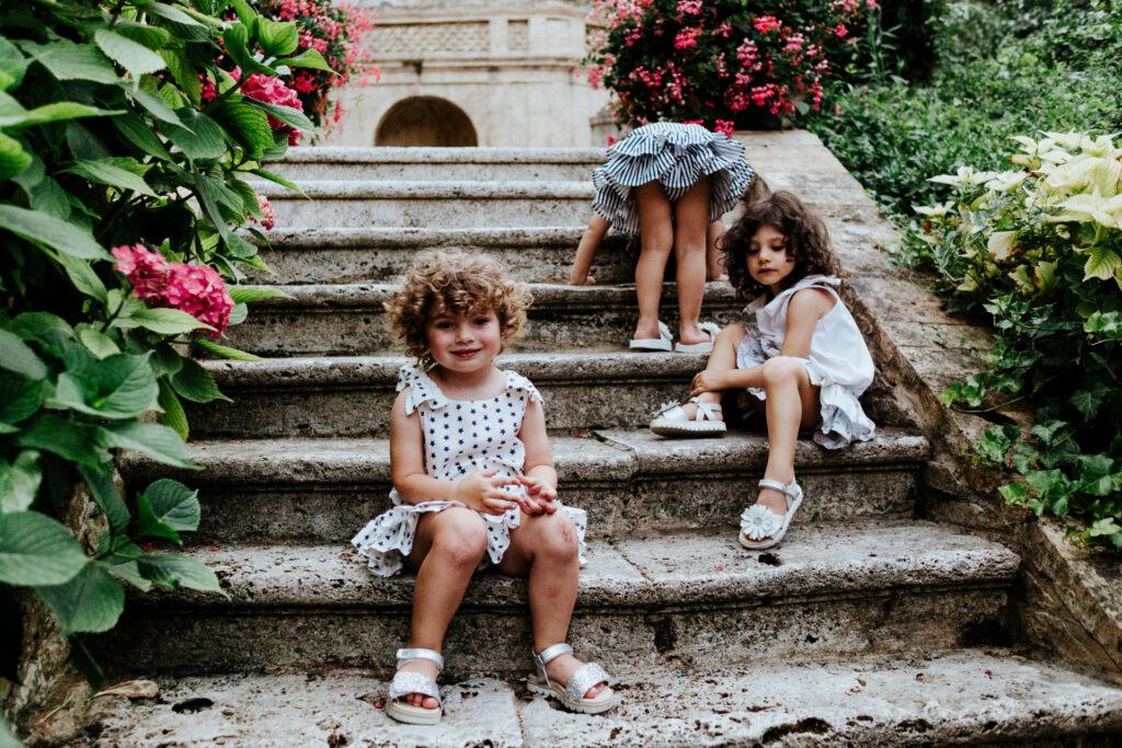magliette manica corta bambina firmate Giulia Mantelline