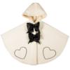 mantellina cappotto in lana e pelliccia di agnellino da bambina