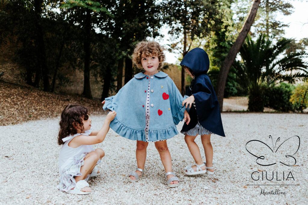 mantelline bambine fino a 5 anni firmate Giulia Mantelline