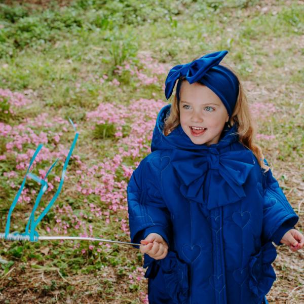 piumino mantellina cuori fata turchina per bambina