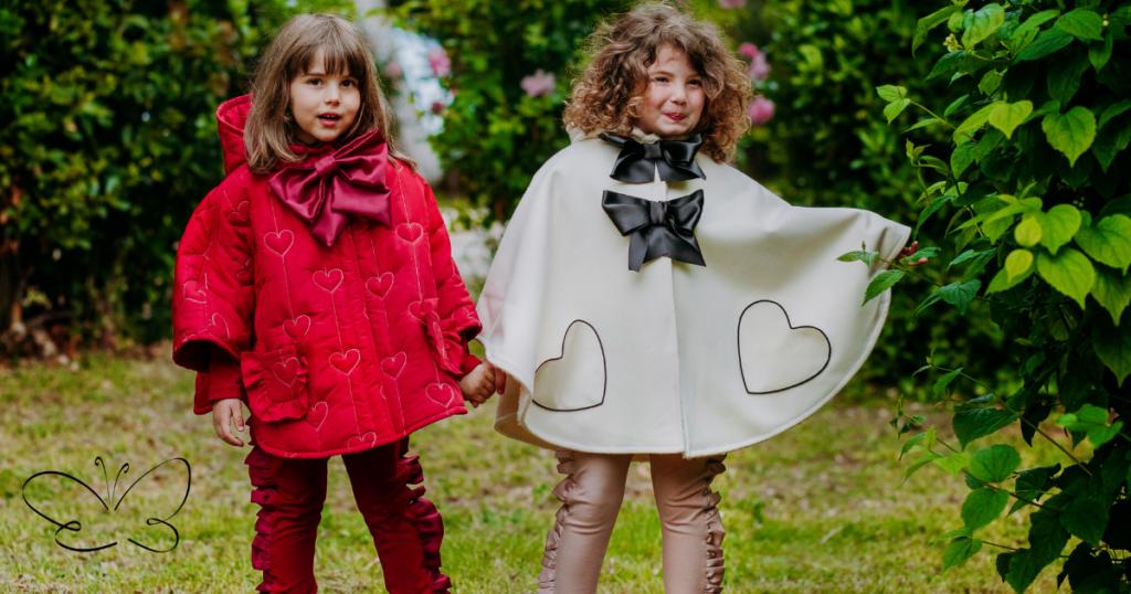 Collezione autunno inverno 21/22 abbigliamento bambina firmata Giulia Mantelline