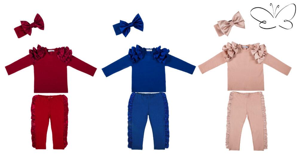 completi bambina maglia e pantaloni